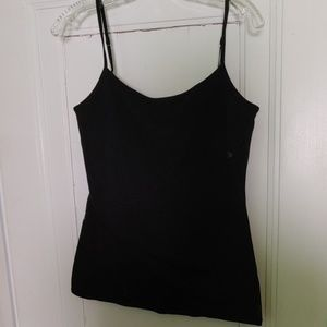 NWT black built-in bra cami